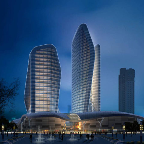 The Pebble Towers, Wuhan, China
